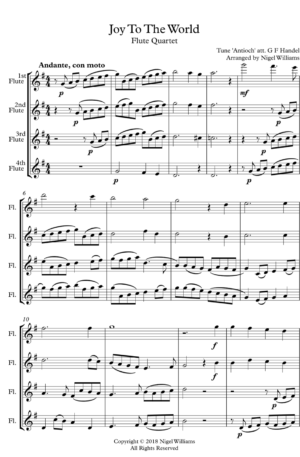 Joy to the World – Flute Quartet