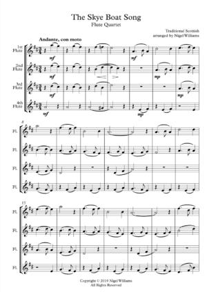 Skye Boat Song – Flute Quartet