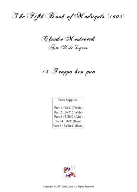 Madrigals Book 5 15