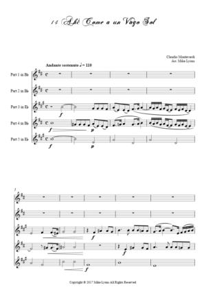 Flexi Quintet – Monteverdi, 5th Book of Madrigals (1605) – 14. Ahi! Come un vago sol