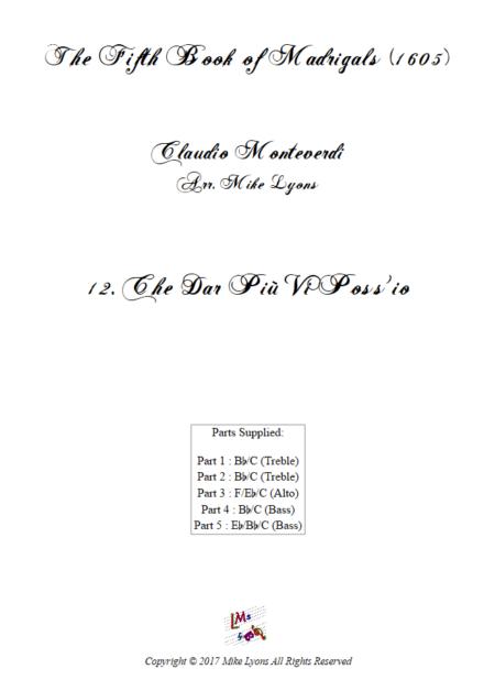 Madrigals Book 5 12