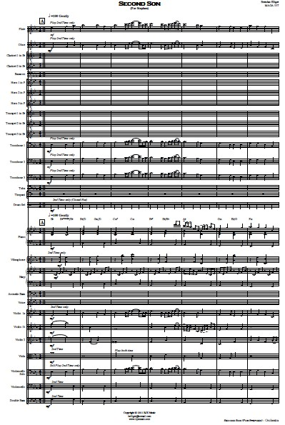174 Second Son Orchestra SAMPLE page 01