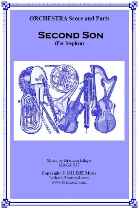 174 Second Son For Stephen Orchestra Score and Parts