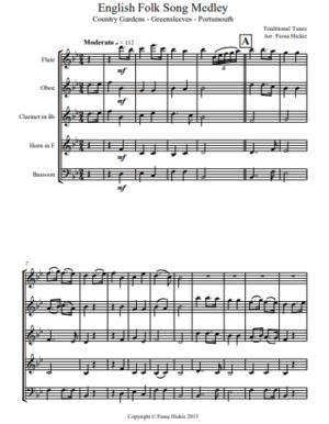 English Folk Song Medley