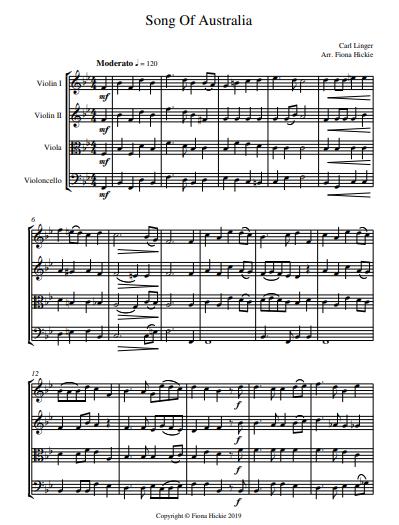 Song of Australia pg 1 String