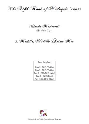 Flexi Quintet – Monteverdi, 5th Book of Madrigals (1605) – 02. O Mirtillo, Mirtillo anima mia