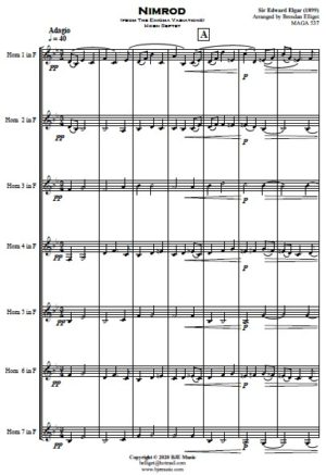 Nimrod (from The Enigma Variations) – Horn Septet