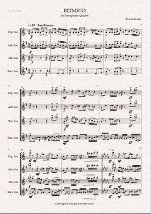 """RITMICO"" Original Concert Piece for Saxophone Quartet"