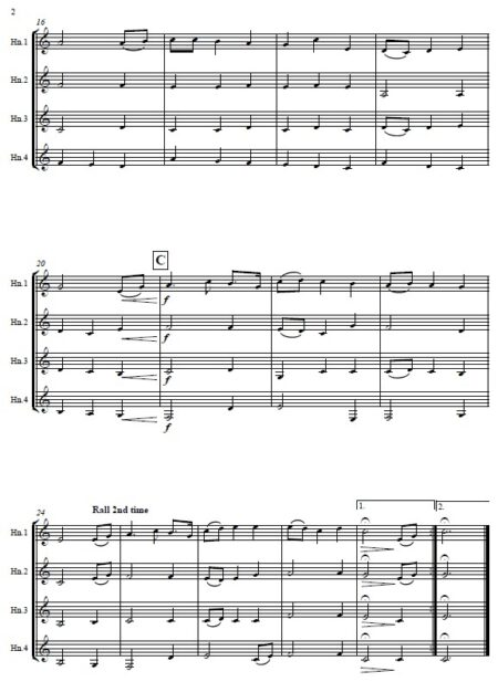 307 I Vow to Thee My Country Horn Quartet SAMPLE page 02