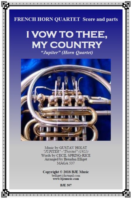 307 I Vow to Thee My Country Horn Quartet