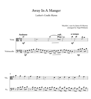 Away In A Manger, Duet for Viola and Cello