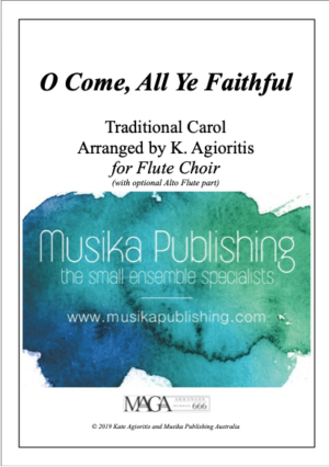 O Come, All Ye Faithful – for Flute Quintet/Choir