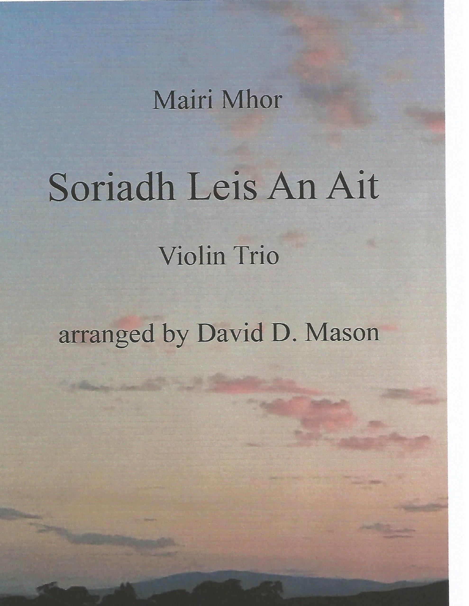 Soriadh Leis An Ait – Violin Trio +Piano