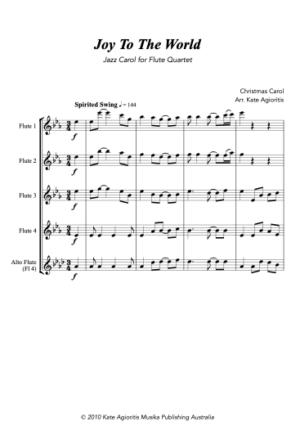 Joy to the World – Jazz Carol for Flute Quartet