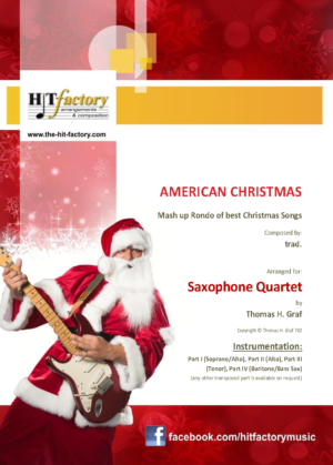 American Christmas – Mash up Rondo of best Christmas Songs – Saxophone Quartet