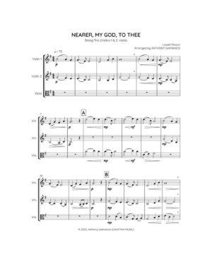 NEARER, MY GOD, TO THEE – string trio