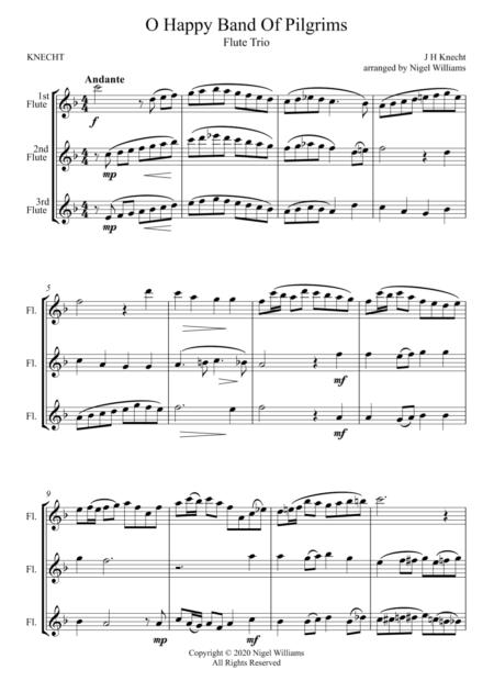 O Happy Band Of Pilgrims, for Flute Trio
