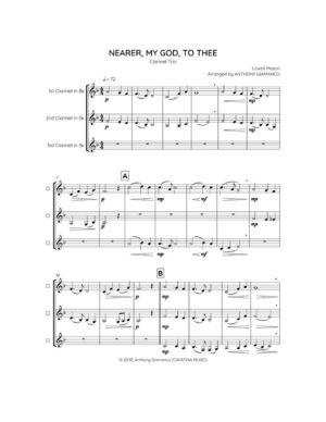 NEARER, MY GOD, TO THEE – clarinet trio