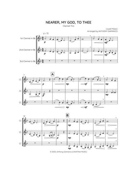 NEARER MY GOD TO THEE clarinet trio 1