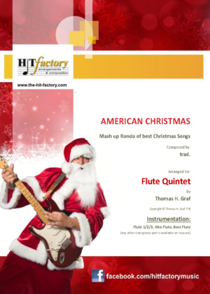 American Christmas – Mash up Rondo of best Christmas Songs – Flute Quintet
