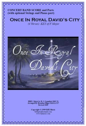 Once In Royal David's City – Concert Band (with optional Strings and Piano)