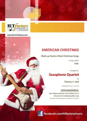 American Christmas – Mash up Rondo of best Christmas Songs – Saxophone Quartet