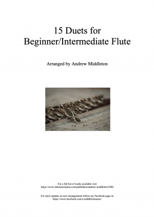 15 Duets for Beginner/Intermediate Flute