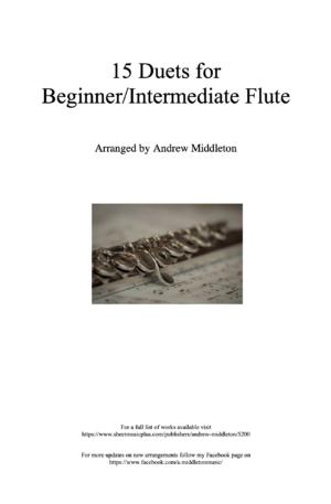 15 Duets for Beginner/Intermediate Flute