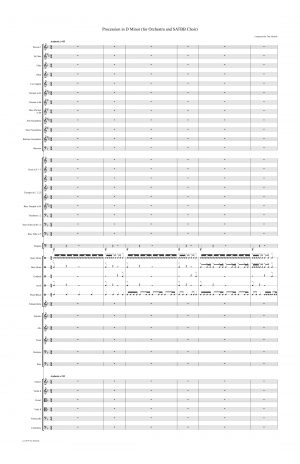 Procession in D Minor (for Orchestra and SATB Choir)