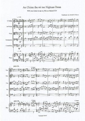An Cluinn thu mi mo Nighean Donn – String Quintet