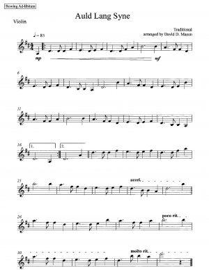 Auld Lang Syne – Violin Solo + Piano
