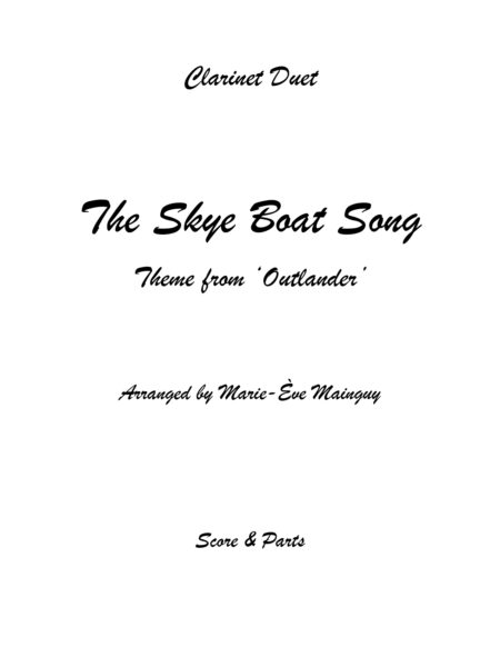 TheSkyeBoatSong ClarinetDuet Couverture page 0001