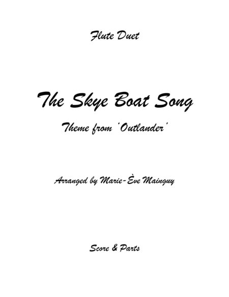 TheSkyeBoatSong FluteDuet Couverture page 0001
