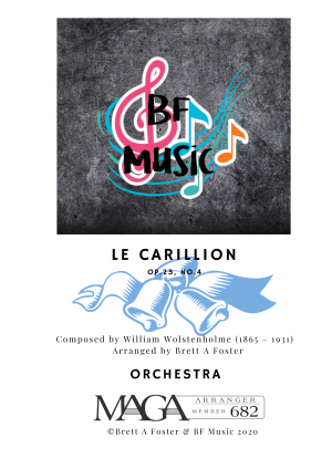 Le Carillon, Op.23 No.4 for Orchestra by William Wolstenholme (1865 – 1931)