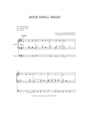 JESUS SHALL REIGN – organ solo