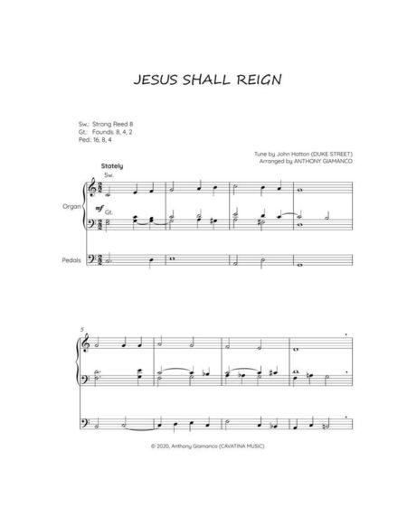 JESUS SHALL REIGN organ solo 1