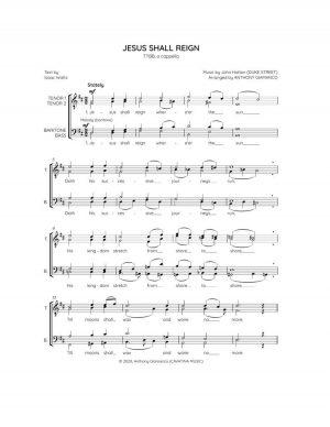 JESUS SHALL REIGN – TTBB, a cappella