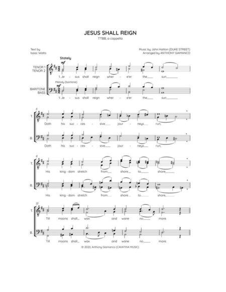 Jesus Shall Reign - TTBB (1st page)