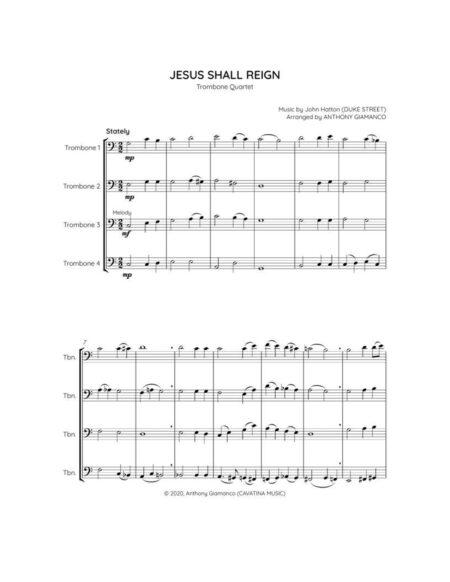 JESUS SHALL REIGN trombone quartet 1