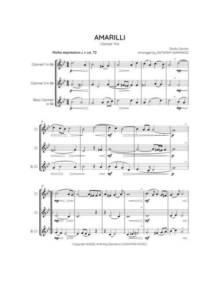 Amarilli - clarinet trio