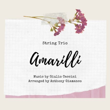 Amarilli - string trio (cover page)
