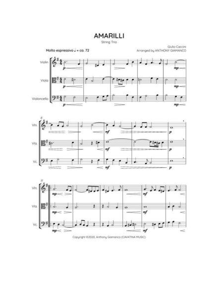 Amarilli (1st page score)