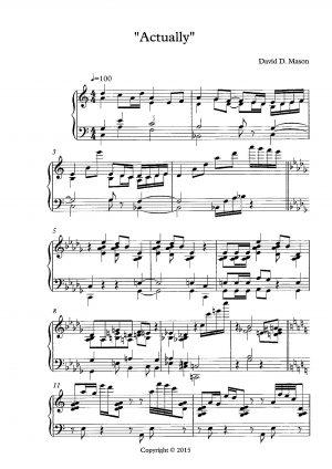 """""""Actually"""" -Piano Solo"""