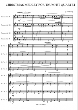 Christmas Medley – Trumpet Quartet