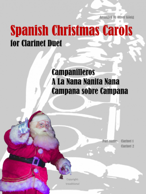 Spanish Christmas Carols for 2 Clarinets