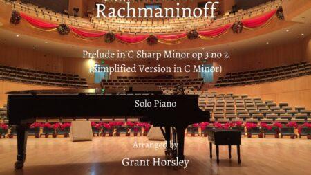 Rachmaninoff prelude op 3 no 2