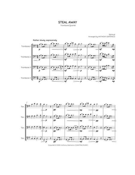 Steal Away - trombone quartet (1st pg.)