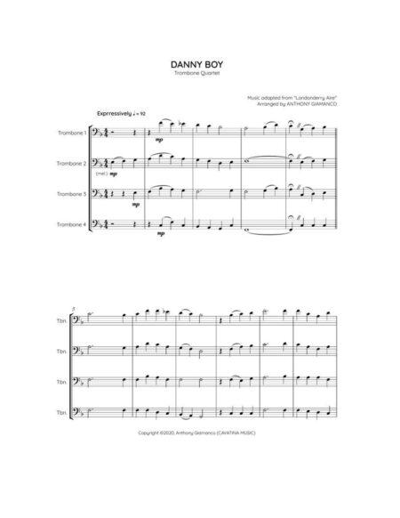 Danny Boy - trombone quartet (1st pg.)