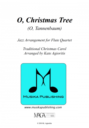 O Christmas Tree – Jazz Carol for Flute Quartet