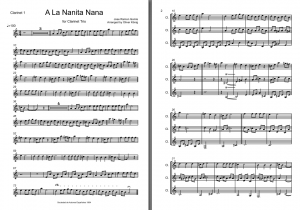 A La Nanita Nana for 3 Clarinets